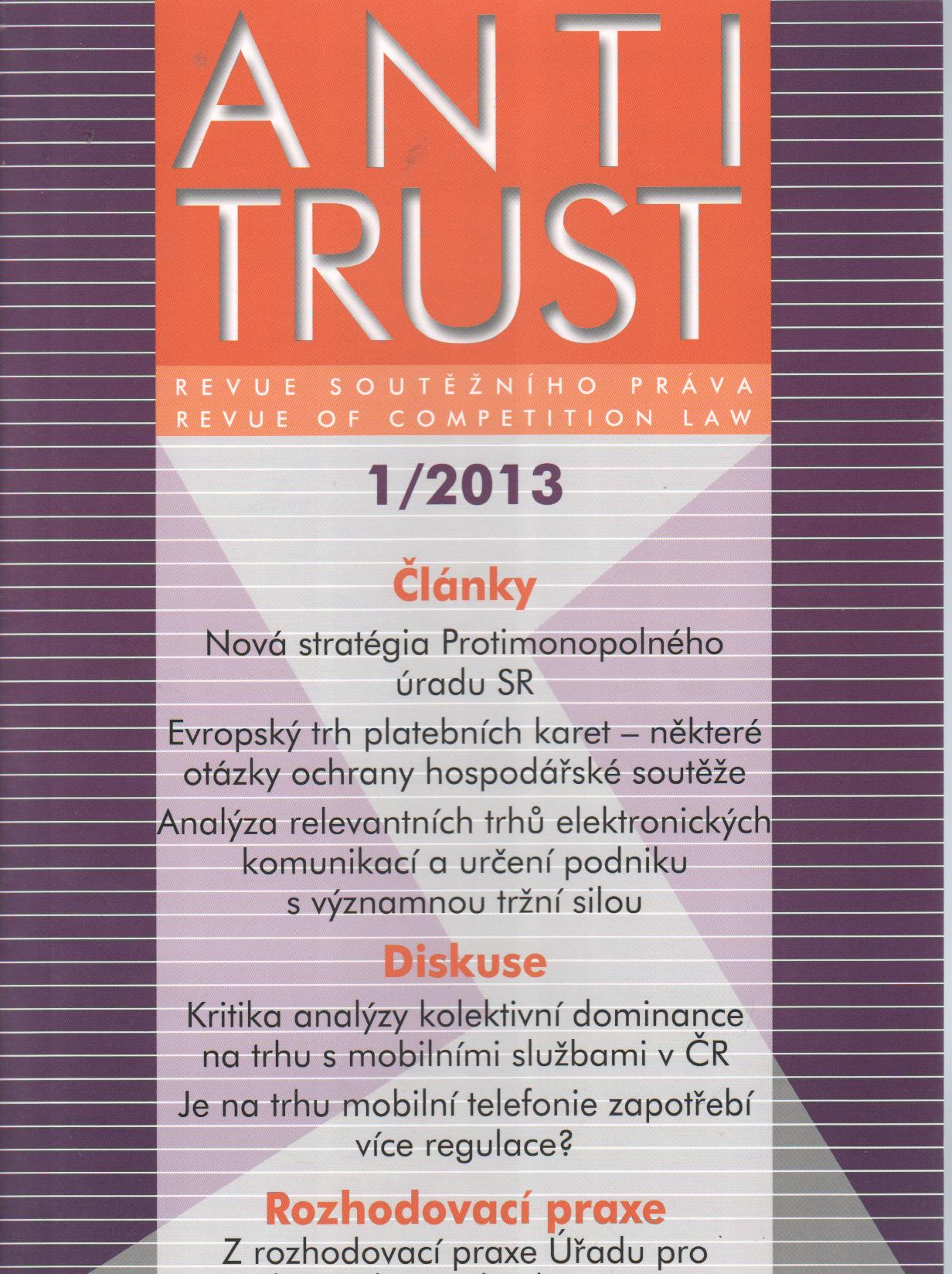Antitrust č.1/2013