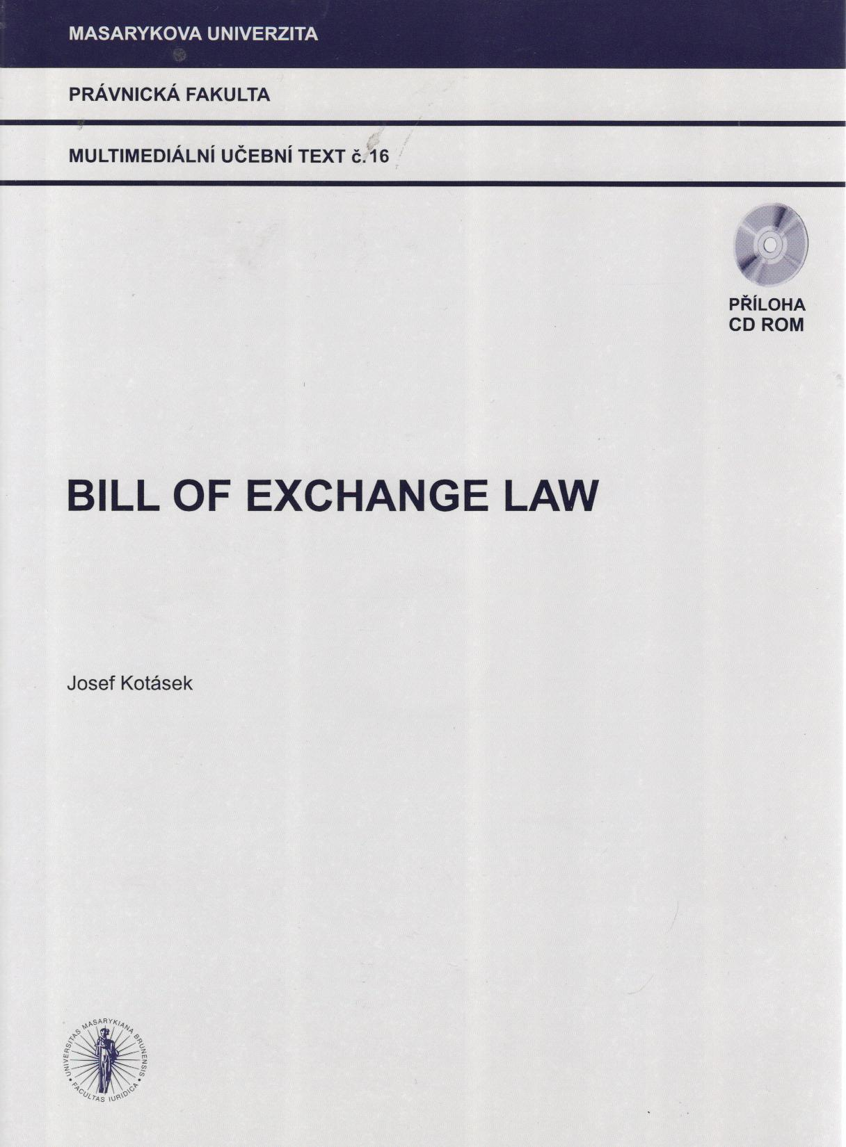 Bill of Exchange Law + CD