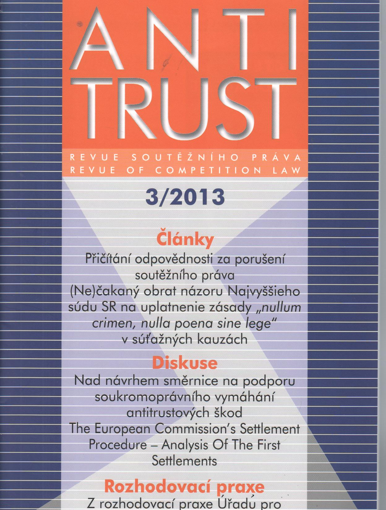 Antitrust č.3/2013